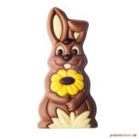 Geschenkpackung Hase mit Blume - Vollmilch 35g