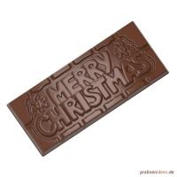 Schokoladentafel-Form Merry Christmas (CW12025)
