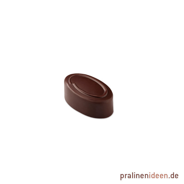 Pralinenform matt oval Ring