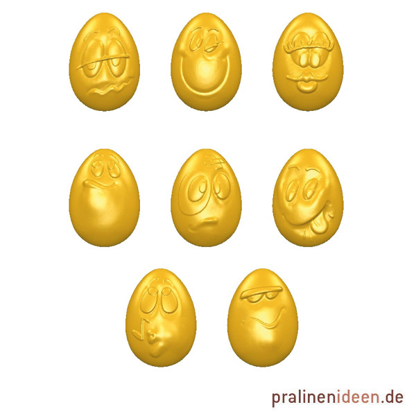 Pralinenform Smiley Eggs (CW1580)