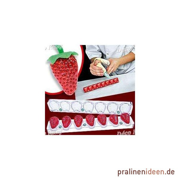 3D-Magnetform Erdbeere