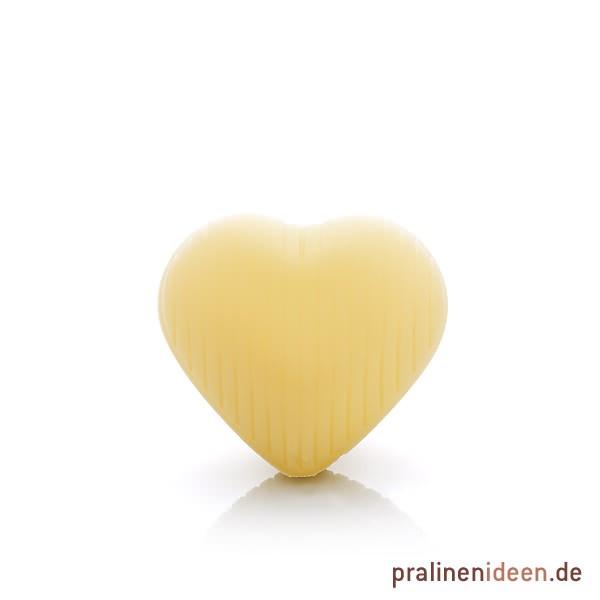 Hohlkörper Herz weiß, 1 Lage mit 54 Stück