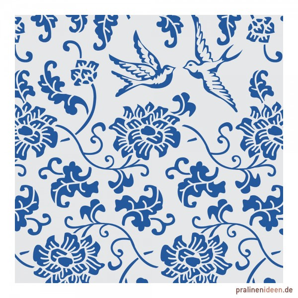 Kleine Transferfolie blaues Porzellan