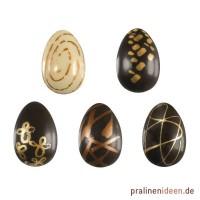 Blisterfolie Kunst-Eier gold