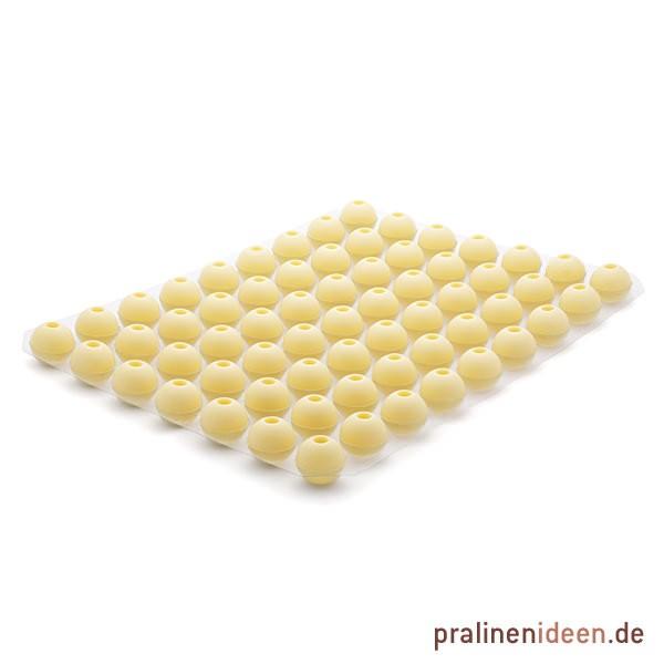 Likör-Hohlkugel weiß, 1 Lage mit 63 Stück