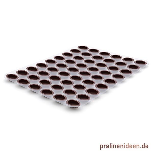 Walnussschale Zartbitter, 1 Lage mit 54 Stück