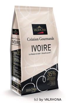 3kg Valrhona-Kuvertüre Ivoire weiß