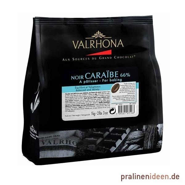 1kg Valrhona-Kuvertüre Caraibe 66%