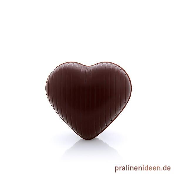 Hohlkörper Herz zartbitter, 1 Lage mit 54 Stück