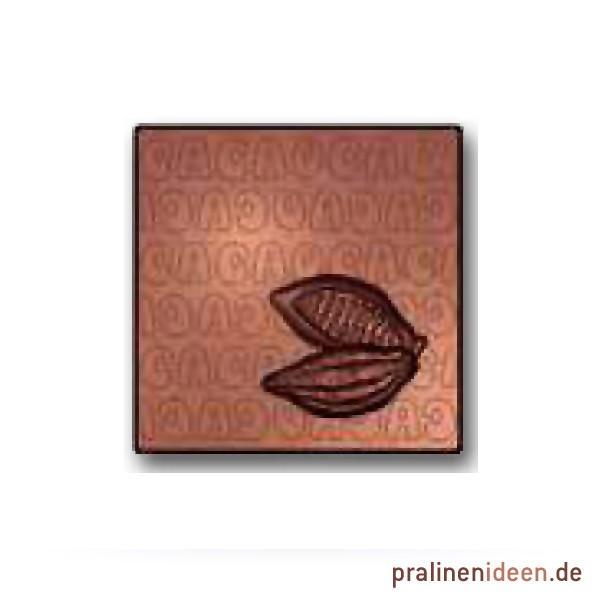 Quadrat-Tafel mit Kakaofrucht (15989)