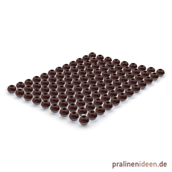 Mini-Pralinenhohlkugeln Zartbitter, 1 Lage mit 108 Stück