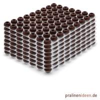 8 Lagen Pralinenhohlkugeln Zartbitter je 63 Stück
