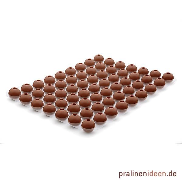 Likör-Hohlkugel Vollmilch, 1 Lage mit 63 Stück