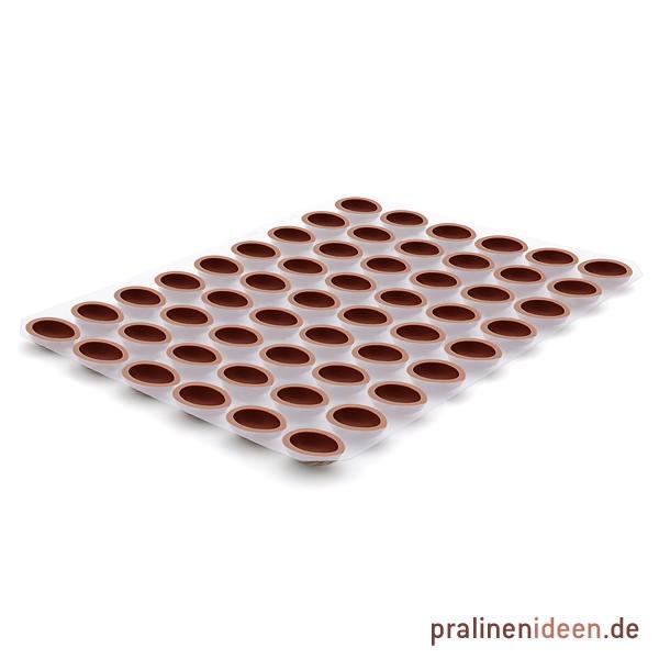 Walnussschale Vollmilch, 1 Lage mit 54 Stück