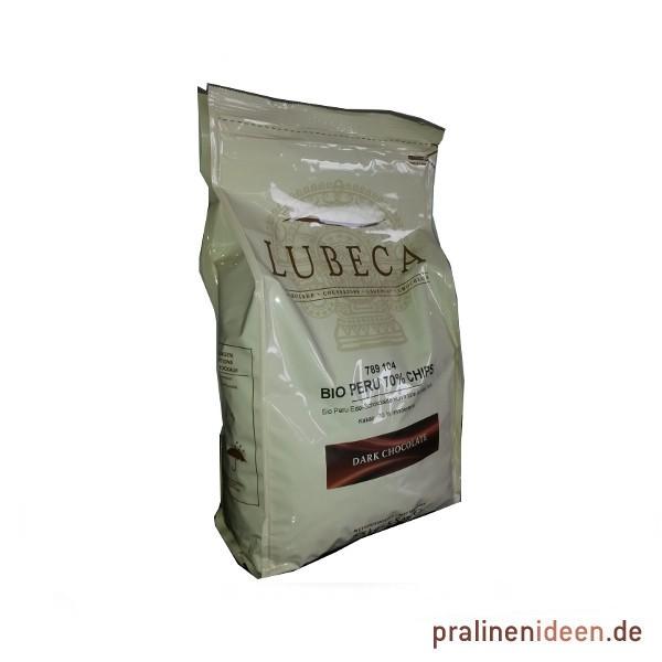 2,5kg Lubeca Bio-Kuvertüre Peru ZB 70% Originalabpackung