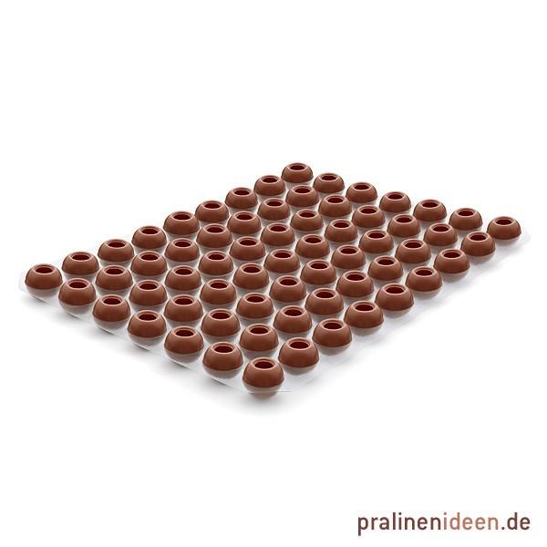 Pralinenhohlkugeln Vollmilch, 1 Lage mit 63 Stück