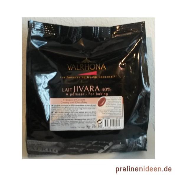 1kg Valrhona-Kuvertüre Jivara Vollmilch 40%