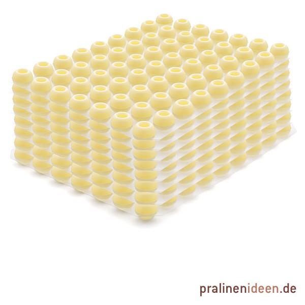 8 Lagen Pralinenhohlkugeln weiße Schokolade je 63 Stück