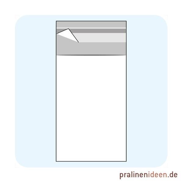 100 Tafel-Klarsichttüten mit Adhäsionsverschluss