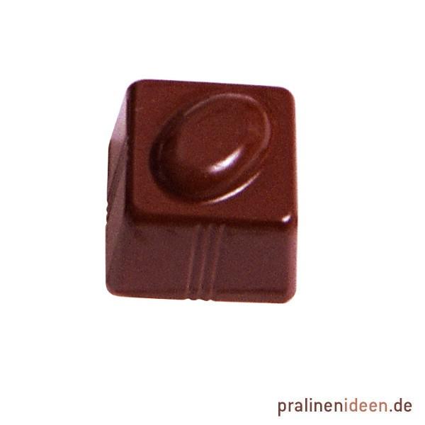 Pralinenform Kaffeebohne Quadrat (6433)
