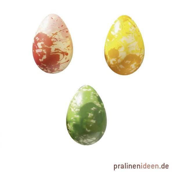 Halbschalen-Ei klein bunte Farben, 1 Lage mit 63 Stück