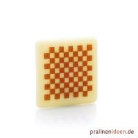 Aufleger Carree Schachbrett weiß, 1 Lage mit 56 Stück