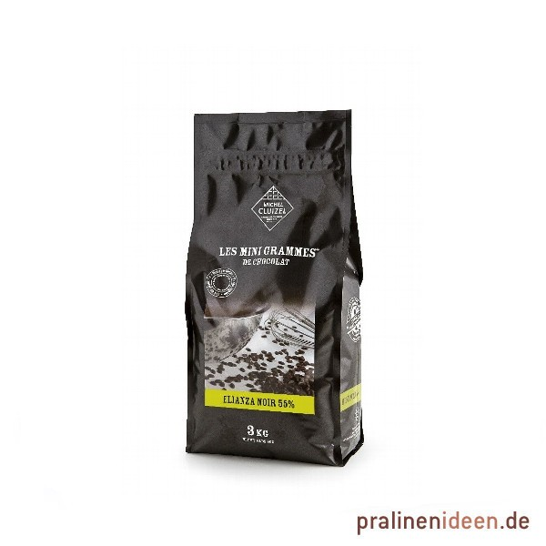 3kg Cluizel Zartbitterkuvertüre Elianza Noir 55% Originalabfüllung