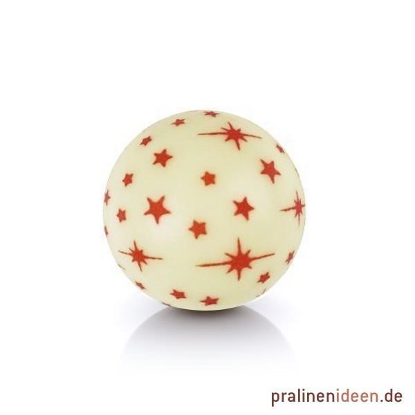 Dekor-Hohlkugel Sterne weiß, 1 Lage mit 63 Stück