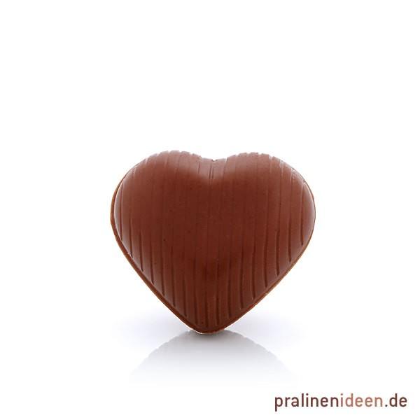 Hohlkörper Herz Vollmilch, 1 Lage mit 54 Stück
